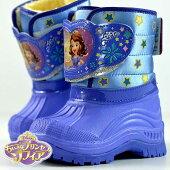 防寒ブーツキッズムートンブーツキッズちいさなプリンセスソフィアDISNEY子供靴防水防滑軽量紫ラベンダー7385Y_KO181109