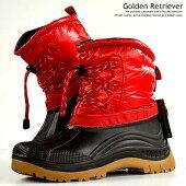 防寒ブーツメンズレインブーツメンズスノーブーツメンズ防水撥水抗菌レッド赤GoldenRetriever9960Y_KO181116-2