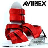 AVIREXスポーツサンダルメンズAV4540HUDSON靴シューズアビレックスアヴィレックススポサン軽量エアソールマジックテープレジャー旅行Y_KOAV4540HUDSONハドソンレッド190710
