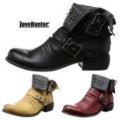 スタッズドレープブーツメンズ靴エンジニアブーツLOVEHUNTER6999SD3548328【MS】【Y_KO】