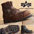 Alpha Industries アルファ インダストリーズ 本革 バイカー ブーツ レディース AFB-22019 【SHA】