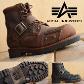 AlphaIndustriesアルファインダストリーズ本革バイカーブーツメンズAFB-20021【SHA】