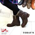 エンジニアブーツ 本革 日本製 売り尽くしセール!--返品不可----Today's--本革使用!エンジニアブーツマニッシュテイストバイカラーのスエード[FOO-FT-1237]H3.0(靴 レザー レザーブーツ 秋冬 スウェード エンジニア レディース ブーツ)