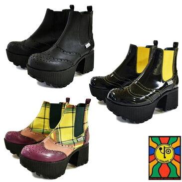 【NEW】【只今オマケ付き♪】 YOSUKE ヨースケサイドゴアブーツ 厚底ブーツ ショートブーツレディース 22.5cm-24.5cm 全3色 2600942