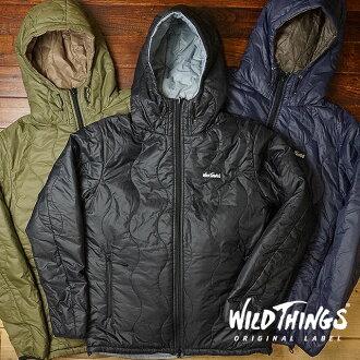 野生的可逆 Primaloft 連帽夾克野獸男式外套棉大衣轉速 PRIMALOFT 連帽外套 (WT001N FW16)