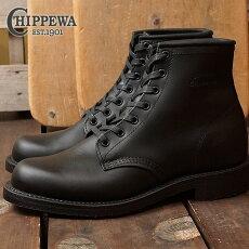 チペワ6インチユーティリティブーツCHIPPEWAメンズ革靴6-inchutilitybootsDワイズブラック(CP1901M82)