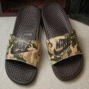 【在庫限り】NIKE ナイキ メンズ サンダル 靴 BENASSI JDI ベナッシ JDI プリント ベルベットブラウン/ベルベットブラウン (631261-202 FW18)【ts】【コンビニ受取対応商品】