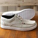 【即納】コンカラー シューズconqueror shoes メンズ オーシャン サイド OCEAN SIDE サーフ カジュアル スニーカー 靴 WHT GRAY ホワイト系 (19SS-OS 02 SS19)