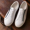 ヨーク YOAK メンズ スタンレー ジップ STANLEY ZIP 日本製 スニーカー 靴 WHITE ホワイト系 (FW19)