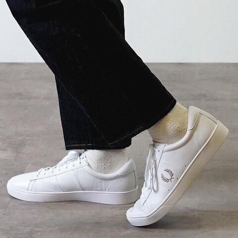 フレッドペリー FRED PERRY スニーカー スペンサー レザー SPENCER LEATHER メンズ・レディース 靴 WHITE/1964 SILVER ホワイト系 (B8250-200 SB7221)【ts】