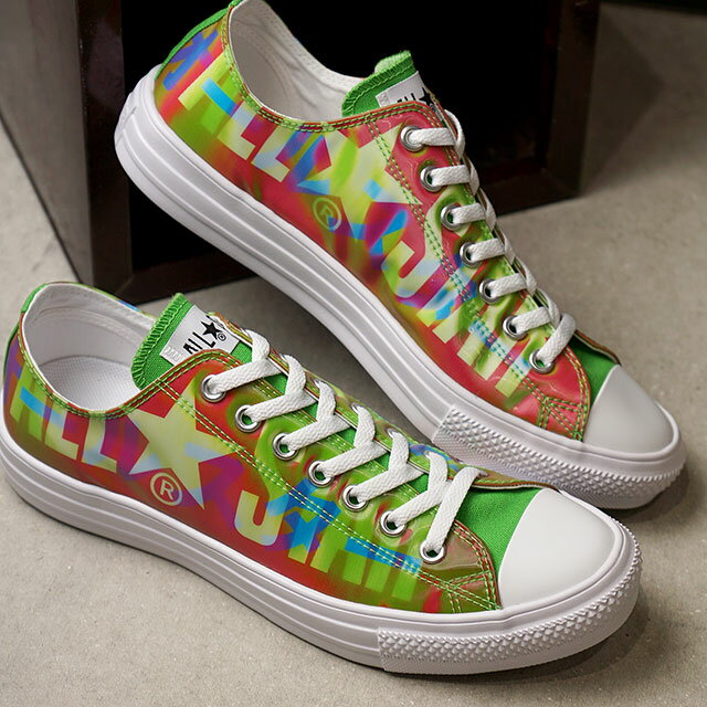 メンズ靴, スニーカー  CONVERSE OX ALL STAR LIGHT LENTICULAR BIGLOGO OX 31302530 FW20 GREENPINK ets