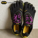 Vibram FiveFingers ビブラムファイブフィンガーズ レディース V-Run Black/Yellow/Purple ビブラム ファイブフィンガーズ 5本指シューズ ベアフット ウィメンズ 靴 (16W3105)