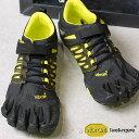 Vibram FiveFingers ビブラムファイブフィンガーズ メンズ MNS V-TRAIN BLAKC/GREEN ビブラム ファイブフィンガーズ 5本指シューズ ベアフット 靴 (17M6602)【コンビニ受取対応商品】
