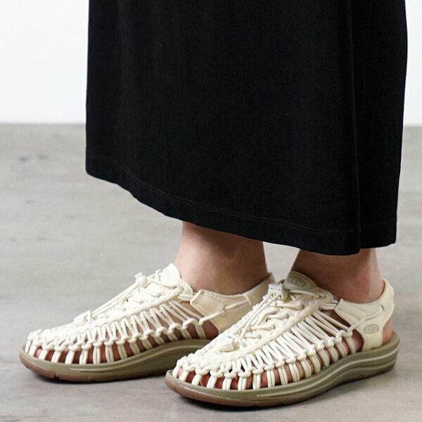 KEENキーンユニークサンダル靴レディースWUNEEKユニークWhitecap/Cornstalk 1018698SS18
