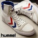 【即納】ヒュンメル hummel スリーマー スタディール キャンバス ハイカット SLIMMER STADIL CANVAS HIGH スニーカー 靴 メンズ・レディース WHITE/RED/BLUE (HM63111K-9228 SS18)【コンビニ受取対応商品】