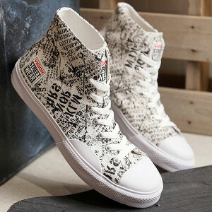 【コラボ】ヴィジョン ストリートウェアVISION STREET WEAR キャンパス ハイ CANVAS HI メンズ レディース ビジョン スニーカー 靴 ALPHABET WHITE ホワイト系 (VSW-8150 SS19)
