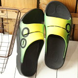 【即納】ウーフォス OOFOS ウーアー スポーツ OOahh Sport メンズ レディース ランニング スライドサンダル リカバリーサンダル 靴 Fuzion イエロー系 (5020040 SS19)