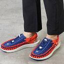KEEN キーン サンダル ユニーク フラット M UNEEK FLAT (1023064 SS20) メンズ アウトドア スニーカー 靴 Blue Depths/Firey Red ブルー系【ts】