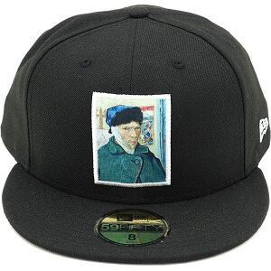 ニューエラ NEWERA キャップ フィンセント・ファン・ゴッホ 59FIFTY Vincent Willem Van Gogh (12353390 SS20) メンズ・レディース 自画像 帽子 BLK ブラック系【ts】