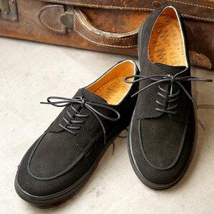 マネブ MANEBU スエードレザーシューズ SYAVO SUEDE (MNB-035S SS20) メンズ Uチップ 靴 BLACK ブラック系【ts】