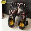 ビブラムファイブフィンガーズ レディース Vibram FiveFingers ジム フィットネス カジュアル向け 5本指シューズ KSO EVO ベアフット Black/Rose 靴 (18W0701 SS18)