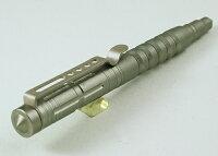 ★護身用ボールペン!キャップ式!TacticalPen!「タクティカルペン!」アルミニウム合金製!ブロンズシルバー色!