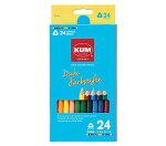 ☆KUM太軸色鉛筆24色☆なめならかな描き心地が特徴な色鉛筆★KUM(クム)★KM164