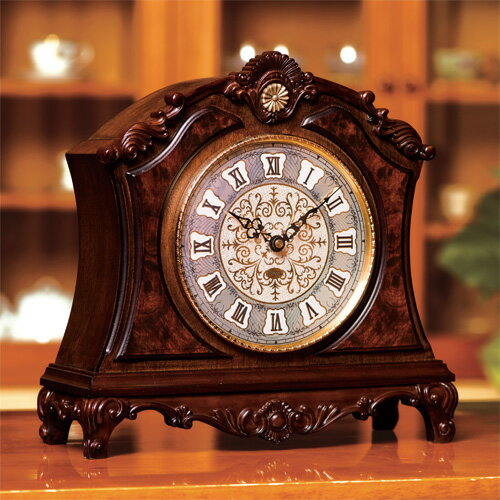 宮内庁御用賜 村松時計店謹製 高級天然樺 置き時計『栄光の寿ぎ』
