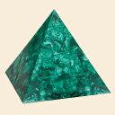 『孔雀石 ピラミッド』(特大)