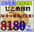 28年福島県ひとめぼれ玄米 30キロ