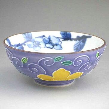 京焼 清水焼 桜唐草ご飯茶碗 昇峰 小