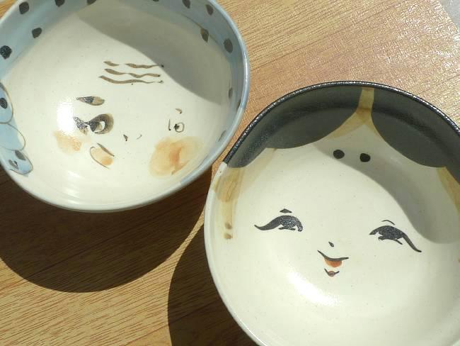 父の日ギフトにおすすめ京焼 清水焼 お福とひょっとこ夫婦茶碗 俊山