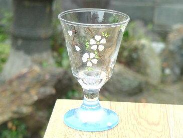京焼 清水焼 青桜冷酒グラス