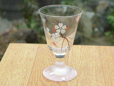 京焼 清水焼 桃桜冷酒グラス