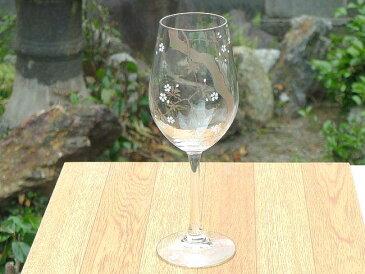 京焼 清水焼 十二ヶ月花鳥図桜ワイングラス