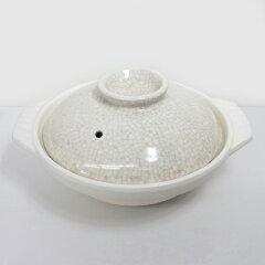 【日本製】シンプルなデザインがロングセラーのヒミツ!銀峯陶器の貫入土鍋 6号【萬古焼】