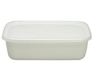 クリーン・シンプル これぞ日本の職・人・仕・事野田琺瑯 ホワイト保存容器 レクタングル深型L
