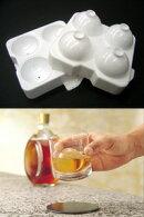 ウィスキーなどにぴったりな大きめサイズまるまる氷大(1個組)50mm