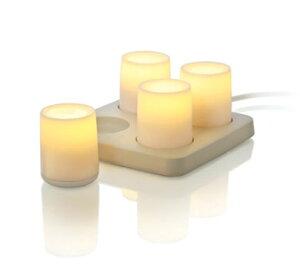 キャンドルのような暖かみのある優しい光OXO candela(キャンデラ) デミグロウ4ランプセット
