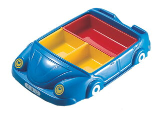 먹는 즐거움! 어린이 런치 플레이트 자동차 블루