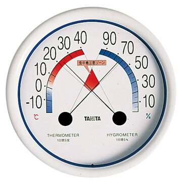 [TKG16-0556] 食中毒注意ゾーン付温湿度計5488