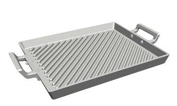 アルミ鋳物 角形グリルプレート 6-0110-0701 グリルパン・プレート