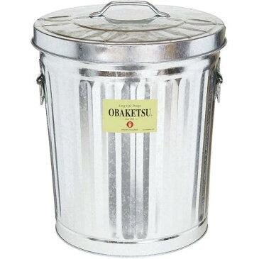 日本製 ゴミ箱 ペール バケツ オバケツ(フタ付) M35 ゴミ箱(集積用) 清掃用品 トタン材(亜鉛メッキ鋼板) 業務用 8-1354-1001