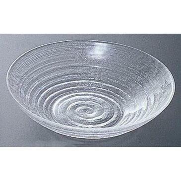 硝子和食器 淡路ライン 中華鉢 ガラス食器