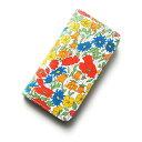 iPhoneSE iPhone5sケース・手帳型: リバティ・ポピー&デイジー(オレンジ)コーティング SHOKO MIYAMOTO かわいい おしゃれ マグネット無しでカード安全 スマホケース アイフォンケース Liberty