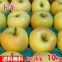 【送料無料】 青森県産 りんご トキ 26〜28玉入 10kg
