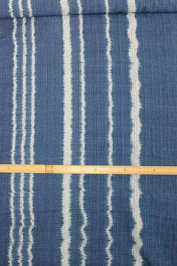 藍染め絣織綿生地品番M-7/M(508)幅69cm(藍染・手織りの布)コットン【サワンナケートの布】