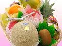 【静岡産マスクメロン】が入った豪華フルーツ盛り合わせ!シンプルラッピング&リボンが選べるからお祝いからお盆などのお供えまでどんなご用途にも対応!フルーツてんこ盛りデラックス