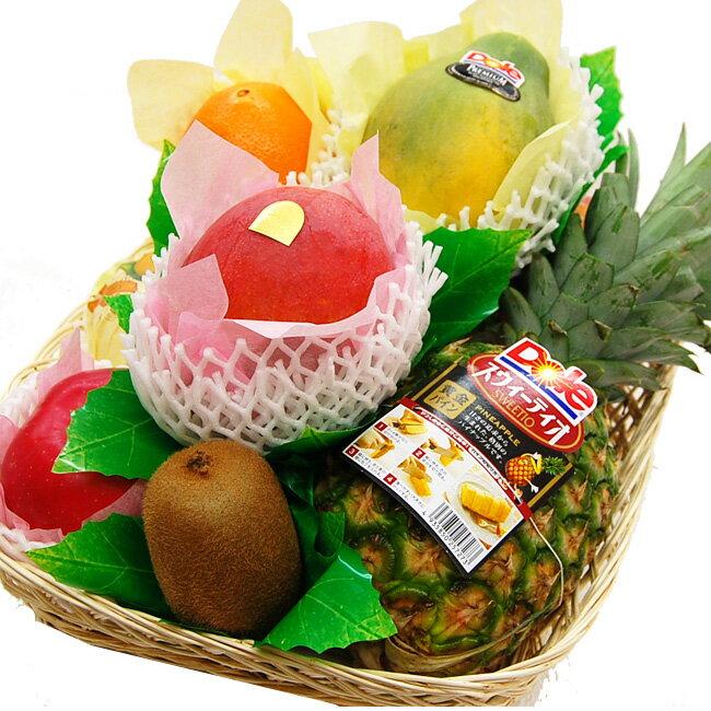 【送料込】フルーツてんこ盛り(約5キロ)【果物 詰め合わせ 内祝 お見舞 かご盛り お供え 法事 彼岸】