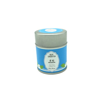 さくらんぼが香る青い緑茶 実桜 1缶(3g×5個) SNS映え サプライズ 母の日 ギフト 無農薬 ハーブ 水出し インスタ映え バタフライピー 佐藤錦